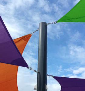 Shade Sail Hardware Kit for Triangle and Square Sun Shade Sail on Blackyard or Garden