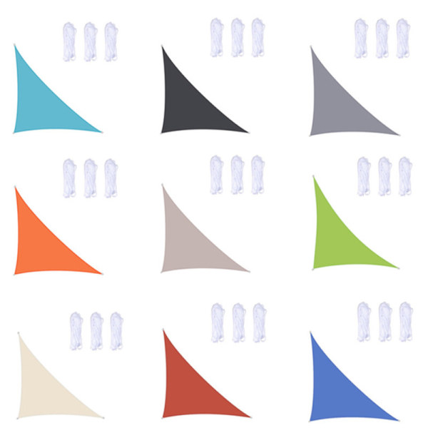 Waterproof Shade Sail UV Block Fabric Triangle Type for Garden and Beach Customized Sizes Available