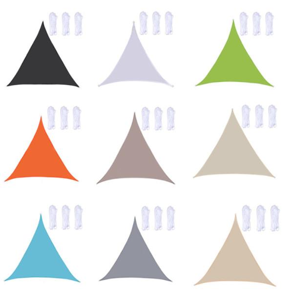 Triangle Waterproof Sun Shade Sail Canopy 95% UV Blockage UV & Water Resistant