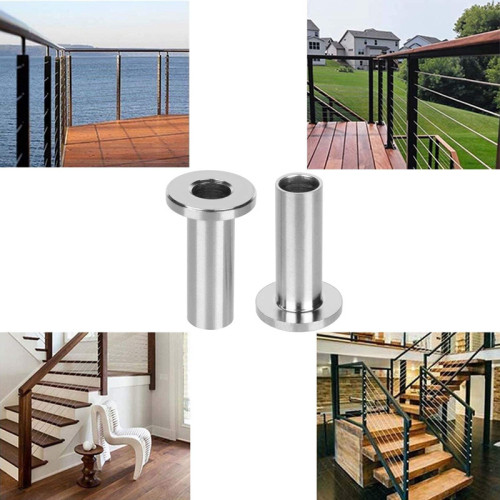 T316 Stainless Steel Protector Sleeves For 1/8 inch Wire Rope Cable Railing for DIY Balustrade