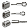 Stainless Steel Wire Ferrules Oval Shaped 3mm for Cable  and Rope Wire Rope Projects