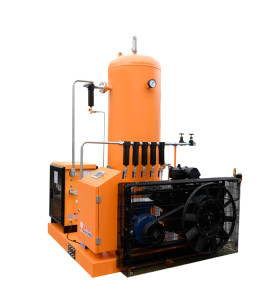 30 Bar 15KW Piston Air Compressor with Dryer for Laser