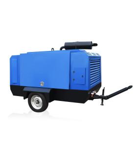 Diesel Portable 132KW Screw Air Compressor for Sale