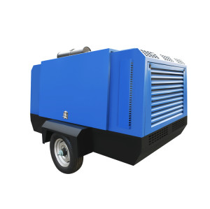 194KW Portable Diesel Air Compressor for Mining Mobile Air Compressor