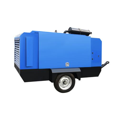 Portable Diesel Engine Driven 45KW Screw Air Compressor Mobile
