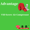 What are the advantages of VSD screw air compressor ?