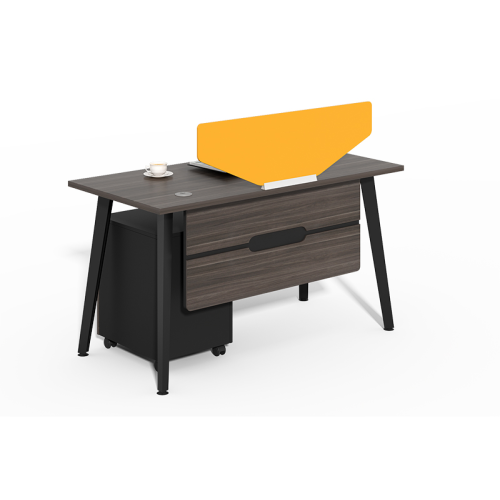 Luxury Office Furniture China Single Office Desk With Yellow Screen CF-HM1206A