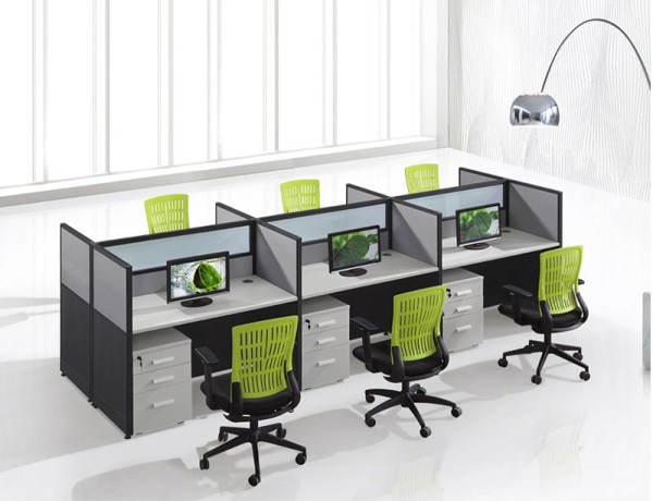 WS-W304 cubicles office workstation cubicle for 6 person