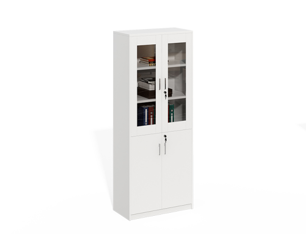 Wooden Frame With Glass Doors File Cabinet WS-LY0820C