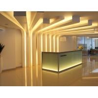 WS-RCPD1 Luxury Glass Reception Desk
