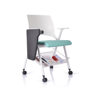 Factory price office training chairs with writing tablet for sale WS-ID04W
