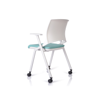 Hot selling Cheap White Waterproof Soft Seating stackable folding chairs for sale WS-ID05W