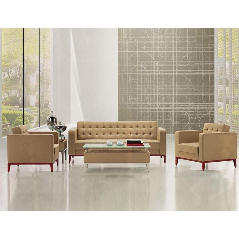 Factory price Leather Executive Office Sofa Sets WS-83604