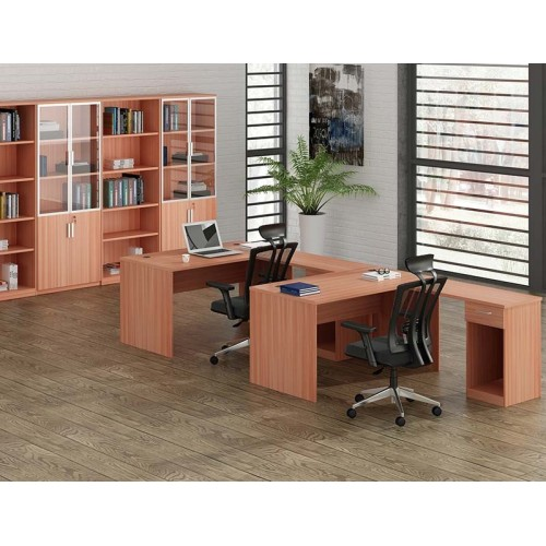 wholesale office furniture Two people l shaped desk