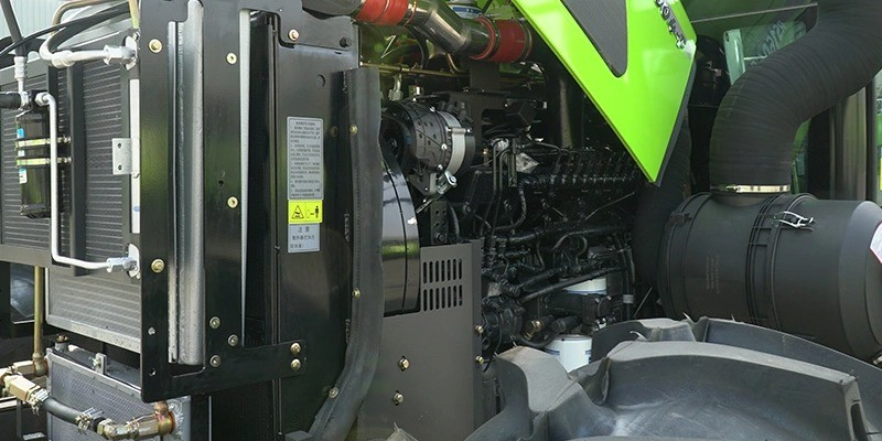 tractor with powerful engine