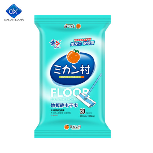 Eelectrostatic Floor Wipes, All Purpose Floor Cleaning Product, Unscented, 20 pcs