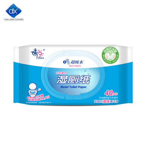 Daxin Flushable Wipes, Toilet Paper, Unscented Wet Wipes with Vitamin-E and Aloe 40 pcs