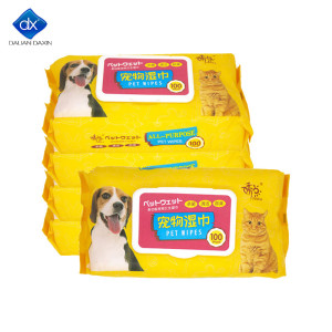 Daxin Grooming Wipes - Hypoallergenic Pet Wipes for Dogs & Cats - Plant-Based, Earth-Friendly 100pcs