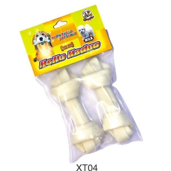 Beef Rawhide bleach  knotted bone dog chews