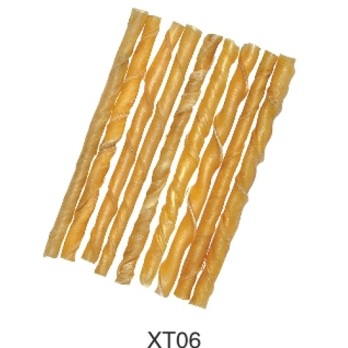 Beef Rawhide natural twisted stick for pet chewing