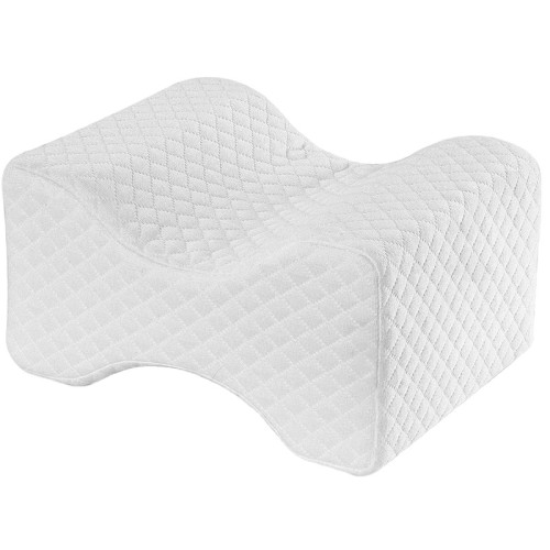 Memory Foam Knee Pillow Contour Wedge Pillow Orthopedic Leg Pillow For Side Sleeper