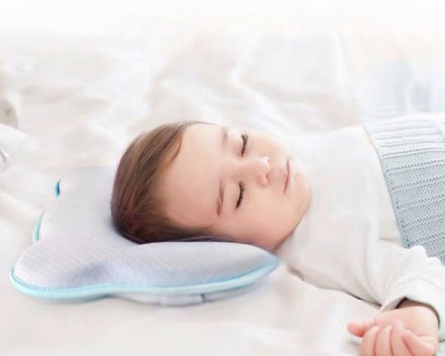 Newborn Infant Head Shaping Pillow With 100% Washable Model Cover Memory Foam Baby Pillow
