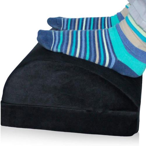 Adjustable Desk Foot Rest Pillow Added Height Teardrop Design Under Desk Footrest Cushion