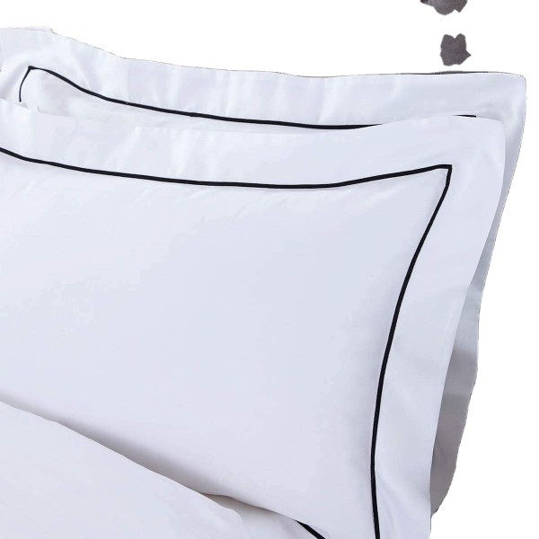1200 Thread Count Egyptian 100% Cotton 2pc Set of Pillow Cases, Silky Soft & Wrinkle Free