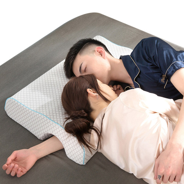 Couple Pillow Custom Factory Price Air Layer L-shaped Anti-pressure Arm Cervical Memory Foam Pillows