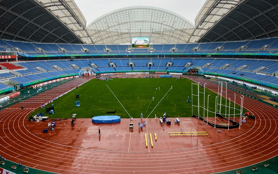Rubber Running Track Mat Giant and Professional Coliseum