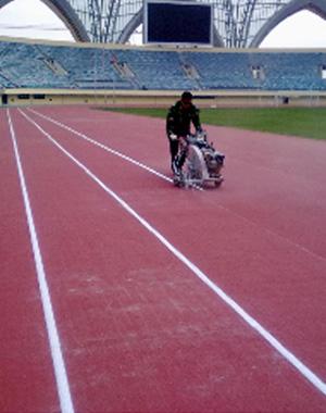 Rubber Running Track Mat Line Marking